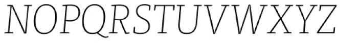 FF Tisa Pro Thin Italic Font UPPERCASE