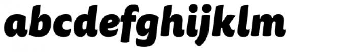 FF Tisa Sans OT Black Italic Font LOWERCASE