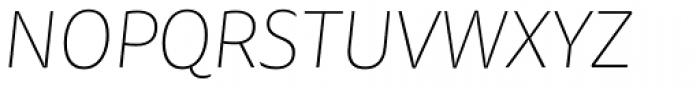 FF Tisa Sans OT Thin Italic Font UPPERCASE