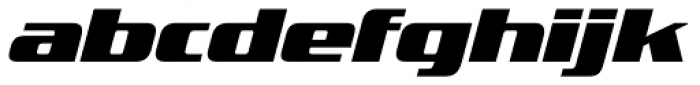 FF TradeMarker Pro Fat Italic Font LOWERCASE