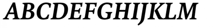 FF Tundra Pro DemiBold Italic Font UPPERCASE