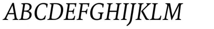 FF Tundra Pro Light Italic Font UPPERCASE