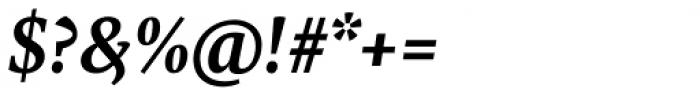 FF Tundra Std Demi Bold Italic Font OTHER CHARS