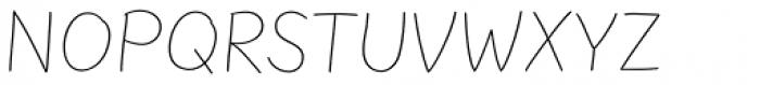 FF Uberhand Pro Thin Font UPPERCASE