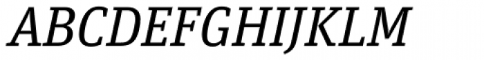FF Unit Slab OT Italic Font UPPERCASE
