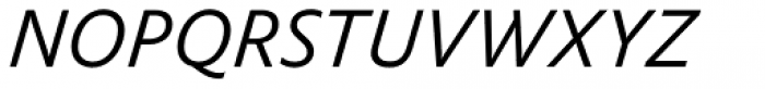FF Yoga Sans Std Light Italic Font UPPERCASE