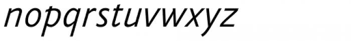 FF Yoga Sans Std Light Italic Font LOWERCASE