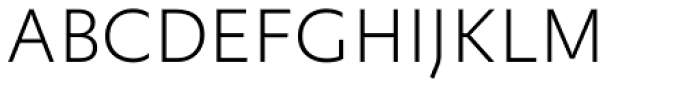 FF Yoga Sans Std Thin Font UPPERCASE