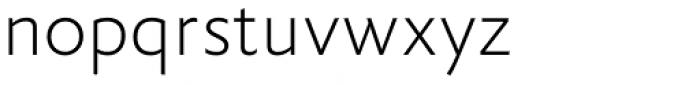 FF Yoga Sans Std Thin Font LOWERCASE