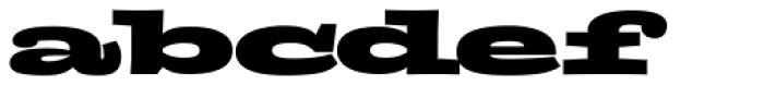FF Zapata Black Font LOWERCASE