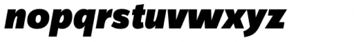 FF Zine Sans Display Pro Black Italic Font LOWERCASE