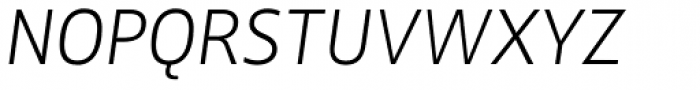FF Zwo Pro ExtraLight Italic Font UPPERCASE