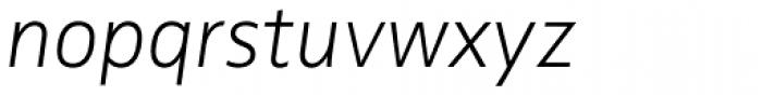 FF Zwo Pro ExtraLight Italic Font LOWERCASE