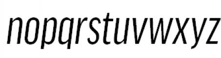 FF Good Headline Offc Pro Extra Condensed News Italioc Font LOWERCASE