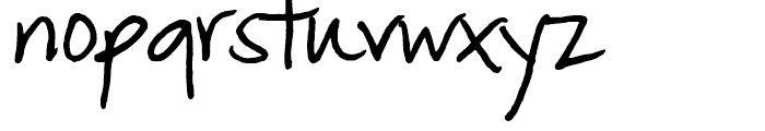 FG Matilda Regular Font LOWERCASE