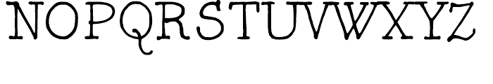 FG Typical Regular Font UPPERCASE