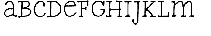 FG Typical Regular Font LOWERCASE