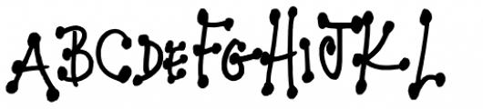 FG Kelli Additional Font UPPERCASE