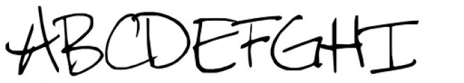 FG Rebecca Script Font UPPERCASE