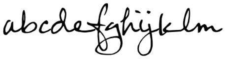FG Rebecca Script Font LOWERCASE