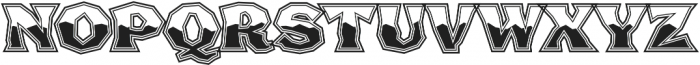 FHA Broken Gothic Busted Regular otf (400) Font UPPERCASE