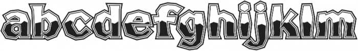 FHA Broken Gothic Busted Regular otf (400) Font LOWERCASE