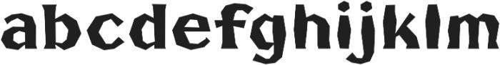 FHA Broken Gothic BustedB Regular otf (400) Font LOWERCASE