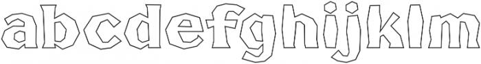 FHA Broken Gothic BustedBB Regular otf (400) Font LOWERCASE