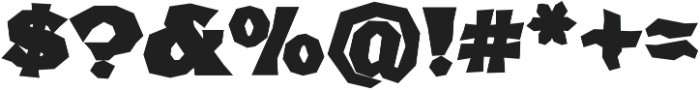 FHA Broken Gothic BustedC Regular otf (400) Font OTHER CHARS