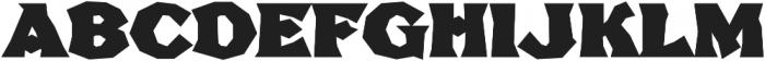 FHA Broken Gothic BustedC Regular otf (400) Font UPPERCASE