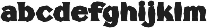 FHA Broken Gothic BustedC Regular otf (400) Font LOWERCASE