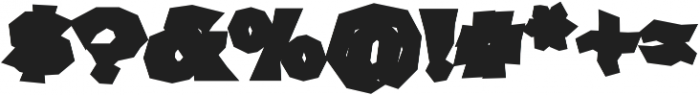 FHA Broken Gothic BustedD Regular otf (400) Font OTHER CHARS