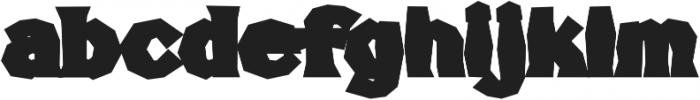 FHA Broken Gothic BustedD Regular otf (400) Font LOWERCASE