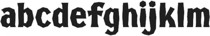 FHA Broken Gothic Kondenst Regular otf (400) Font LOWERCASE