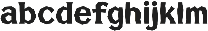FHA Broken Gothic No 2 Regular otf (400) Font LOWERCASE