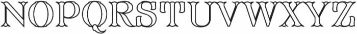 FHA Modified Tuscan Roman Open otf (400) Font UPPERCASE