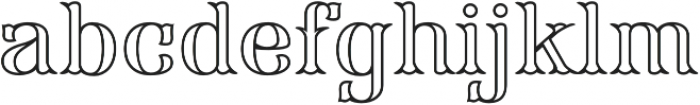 FHA Modified Tuscan Roman Open otf (400) Font LOWERCASE
