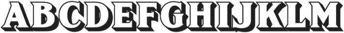 FHA Sign DeVinne Shaded otf (400) Font UPPERCASE