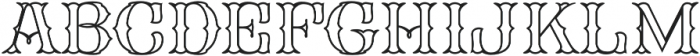 FHA Spurred Tuscan Roman Open otf (400) Font UPPERCASE