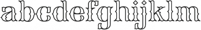 FHA Spurred Tuscan Roman Open otf (400) Font LOWERCASE