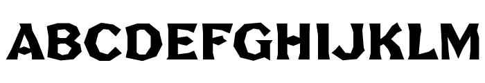 FHA Broken Gothic No2 NC Font UPPERCASE