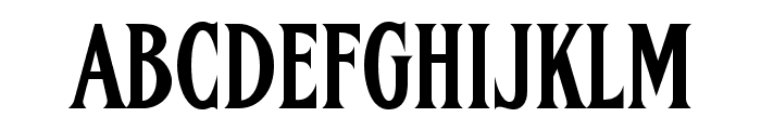 FHA Condensed French NC Font UPPERCASE