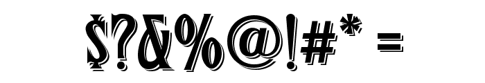 FHA Condensed French Shaded NC Font OTHER CHARS