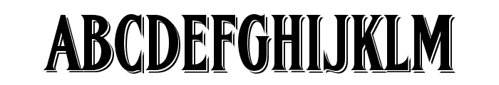 FHA Condensed French Shaded NC Font UPPERCASE