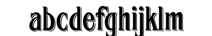 FHA Condensed French Shaded NC Font LOWERCASE