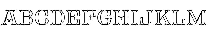 FHA Mod Tuscan Roman Open  NCV Font UPPERCASE