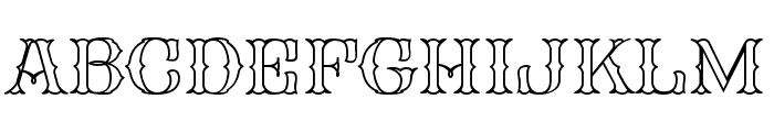 FHA Spur Tuscan Roman Open NCV Font UPPERCASE