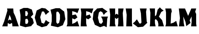 FHABrokenGothicKondNC Font UPPERCASE