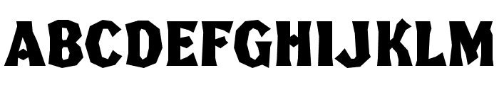 FHABrokenGothicKondNC Font LOWERCASE