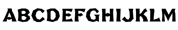 FHABrokenGothicNo2NC Font UPPERCASE